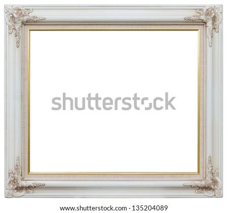 white photo frame - stock photo