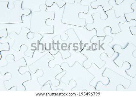 white puzzle - stock photo