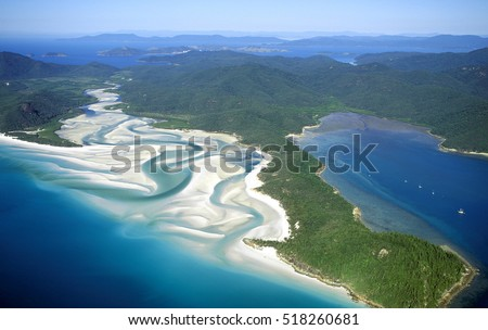 Whitehaven beach in the Whitsunday island group.