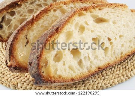 Whole wheat bread, closeup - stock photo
