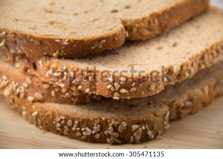 Whole Wheat Bread,Good fibre for every day - stock photo