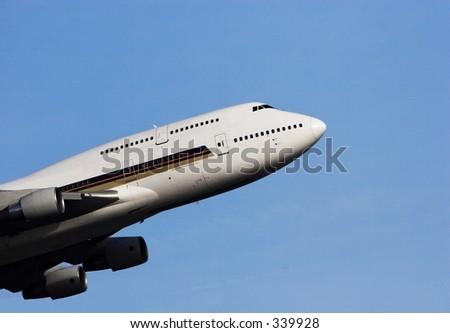 747 Widebody - stock photo