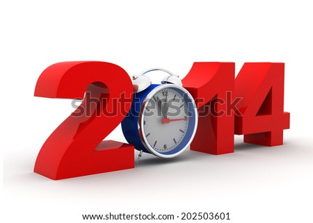 2014 with alarm clock