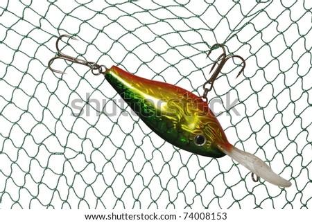 wobbler for fishing a predatory fish - stock photo