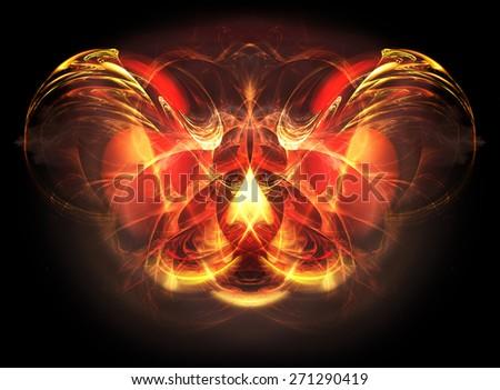 Wonderful fractal background - stock photo