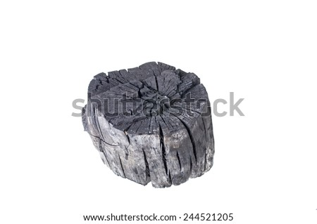 wood charcoal - stock photo