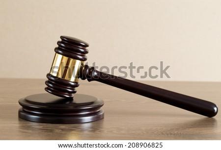 wooden judge gavel  - stock photo