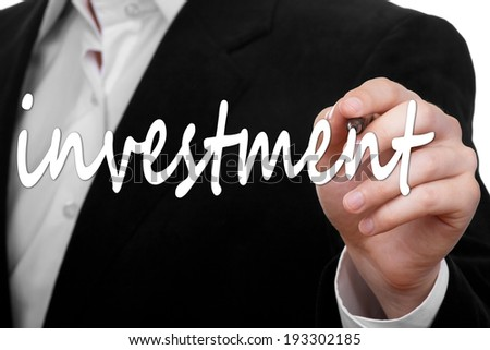 word investment - stock photo