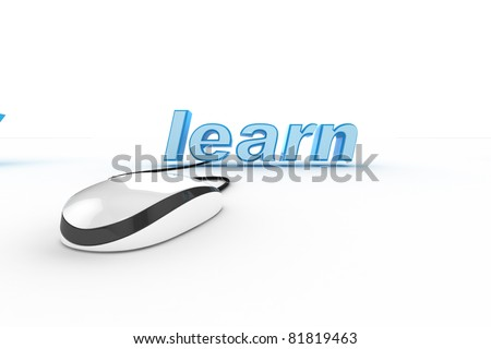 word with mouse on white background