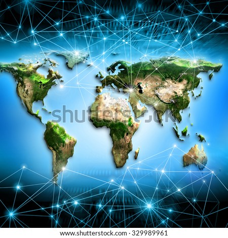 World map on technological background best stock illustration world map on a technological background best internet concept of global business primary source gumiabroncs Image collections