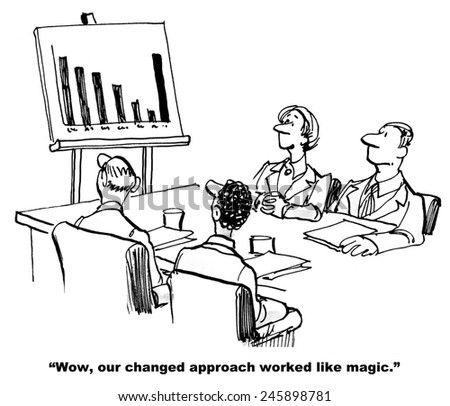 """""""Wow, our changed approach worked like magic."""" - stock photo"""