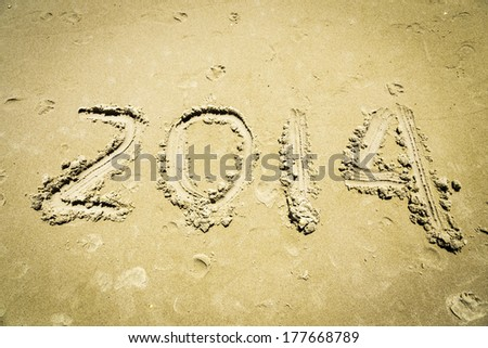 2014 written on the sand