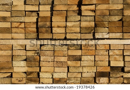 2 x 4 Lumber - stock photo