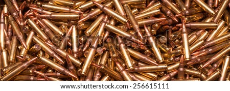 5.56x45mm NATO or xm193 - stock photo