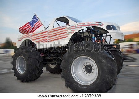 X Monster Truck US Car Show Stock Photo Royalty Free - Monster car show