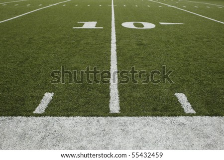 10-yard-line of a football field - stock photo