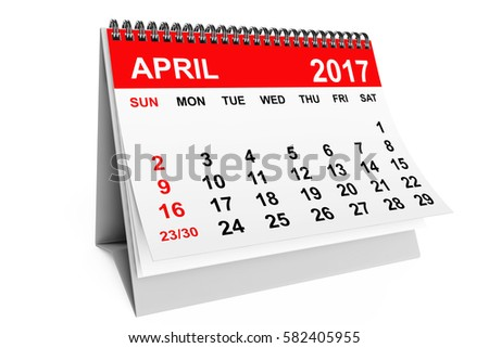 April Calendar Stock Images, Royalty-Free Images & Vectors ...