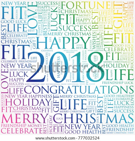 2018 year greeting word cloud collage stock illustration 777032524 2018 year greeting word cloud collage happy new year celebration greeting card m4hsunfo Image collections