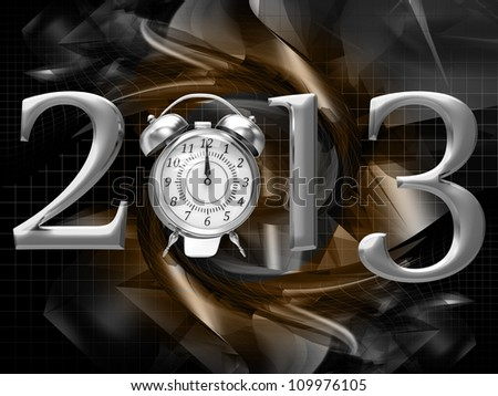 2013 year inscription on the abstract background - stock photo