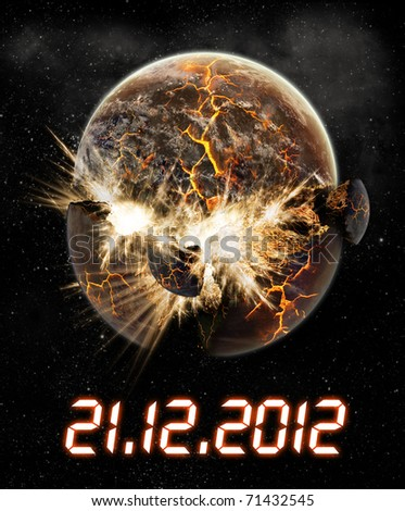 2012 year of the apocalypse - stock photo