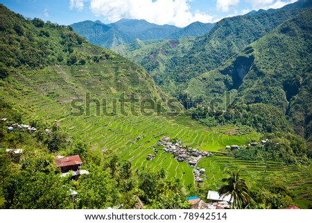 2000-year old Batad Rice Terraces, Ifugao Province, Philippines. UNESCO World Heritage - stock photo