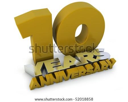 10 years anniversary - stock photo