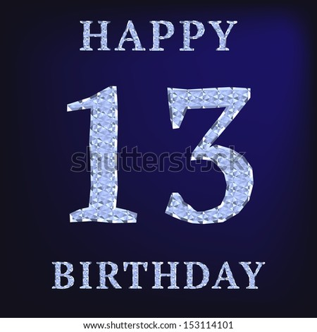 13 Birthday Images RoyaltyFree Images Vectors – 13 Year Old Birthday Card