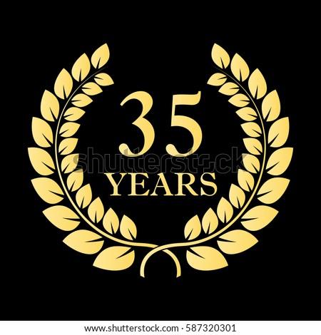 35 Years Icon 35th Anniversary Birthday Stock Illustration 587320301