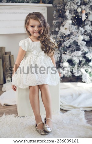 Years old little girl dressed