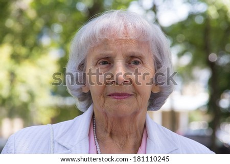 83 years old woman portrait