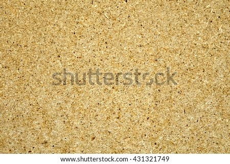 Yellow chipboard used as background