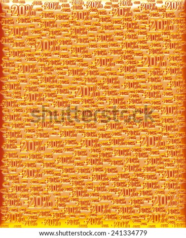 20% yellow orange background - stock photo