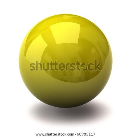 Yellow sphere - stock photo