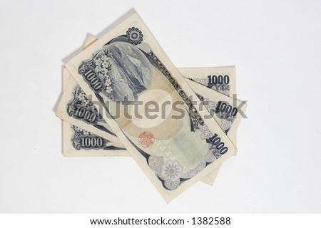 1000 yen bills full - stock photo