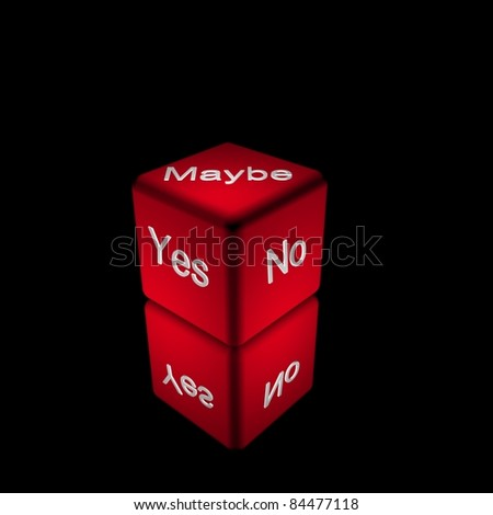 Yes, No or Maybe Dice - stock photo