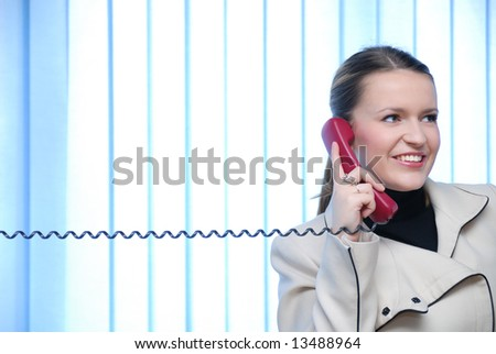 .young and beautiful businesswoman screaming by phpne