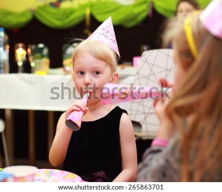 Young girl at party - stock photo