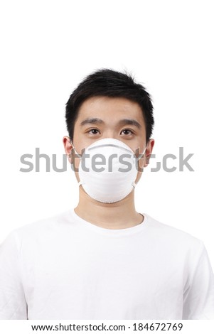 Young man with mask	 - stock photo