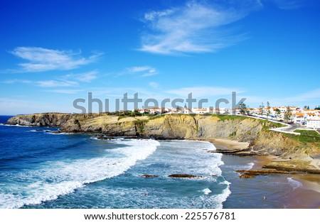 Zambujeira do Mar beach, Alentejo, Portugal  - stock photo