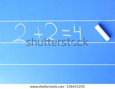 2+2=4 - stock photo