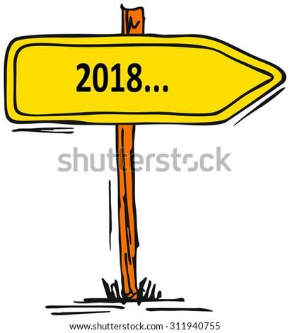 2018 - stock photo