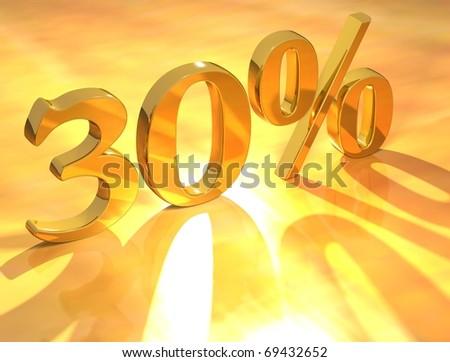 30 % - stock photo