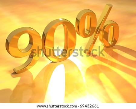 90 % - stock photo