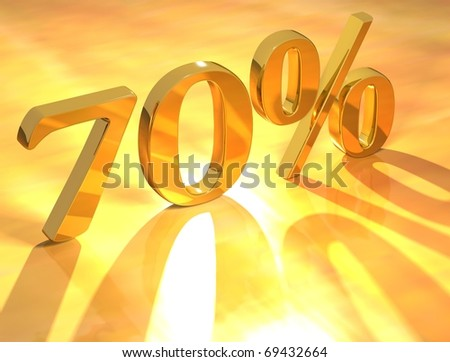 70 % - stock photo
