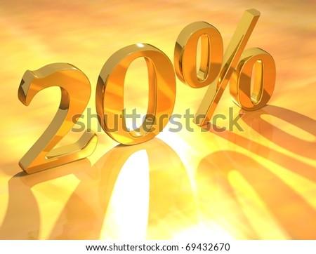 20 % - stock photo