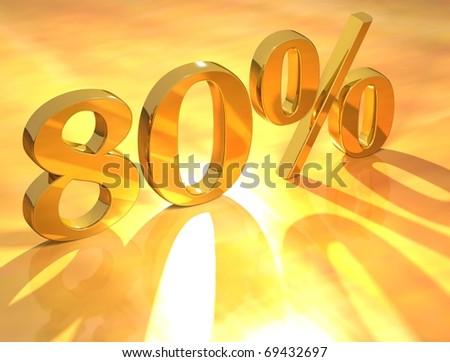80 % - stock photo