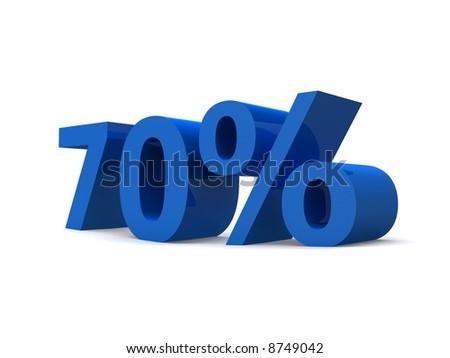 70% - stock photo