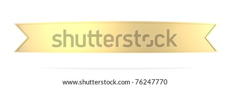 A antique banner. 3D rendered illustration. Isolated on white. - stock photo
