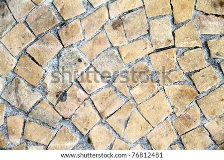 A antique stone floor Background. - stock photo