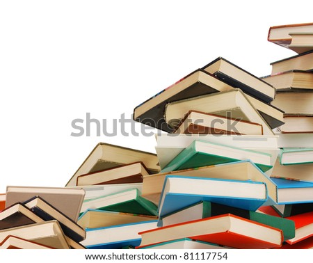 A antique textbooks background - stock photo